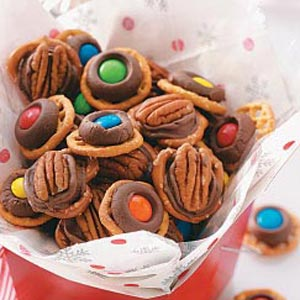 chocolate pretzel rings pass the recipe